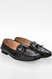 Tod's Black Patent Leather Loafers / Size: 36.5 - Fit: 37