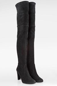 Stuart Weitzman Black Suede Over The Knee Boots / Size: 42 - Fit: 41.5