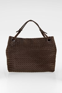Bottega Veneta Brown Nappa Intrecciato Leather Garda Tote Bag