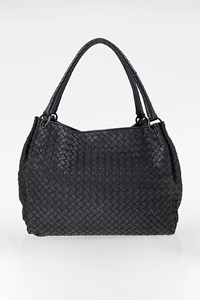 Bottega Veneta Black Nappa Intrecciato Leather Tote Bag