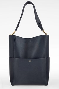 Céline Dark Blue Sangle Leather Shoulder Bag