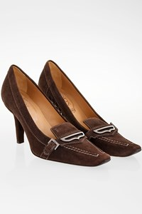 Tod's Brown Suede Pumps with Stiching / Size: 35 - Fit: True to size