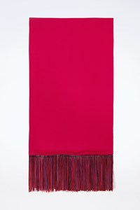 Emanuel Ungaro Fuchsia Shawl with Fringes