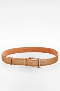 Louis Vuitton Beige Monogram Vernis Leather Belt