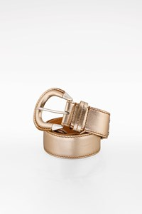 Tod's Gold Metallic Leather Belt