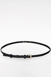 Blumarine Black Lizard Leather Belt