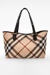 Burberry Supernova Check Shopping Bag with Pochette
