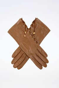 Lia Lend Caramel Leather Gloves