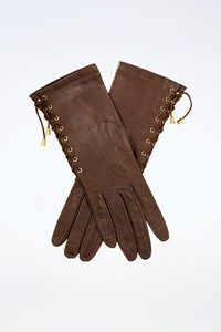 Lia Lend Chocolate Leather Gloves