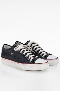 Roberto Cavalli Blue Leather Men's Sneakers / Size: 42 - Fit: True to size