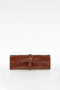 Mulberry Brown Leather Jewellery Roll