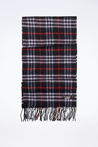 Burberry The Classic Blue Check Printed Cashmere Scarf
