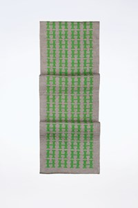 Hermès Green-Grey Wool Logo Print Men's Scarf