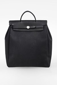 Hermès Black-Ecru Herbag 2-in-1 Backpack
