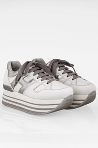 Hogan White Leather Sneakers with Platform / Size: 36 - Fit: True to size