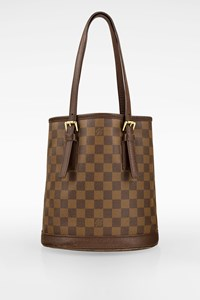 Louis Vuitton Brown Marais Bucket Damier Canvas Shoulder Bag