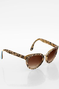 Toms 10002102 Beige-Black Floral Acetate Sunglasses