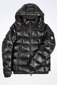 Moncler Black Nylon Teen Jacket with Removable Hood / Size: 14 Years - Fit: S