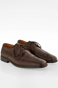 Bally Brown Leather Derby Shoes / Size: 8 (41) - Fit: True to size
