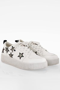 Juicy by Juicy Couture White Daisy Sneakers with Stars / Size: 41 - Fit: True to size