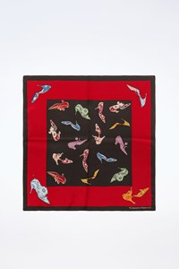The Metropolitan Museum of Art Black-Red Silk Scarf with Pumps