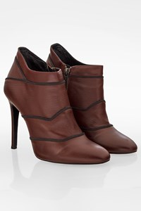 Zeus + Dione Maroon Leather Booties / Size: 39 - Fit: 38.5
