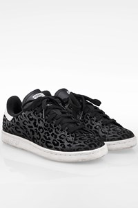 Adidas Stan Smith W Black Leopard Print Sneakers / Size: 38 - Fit: True to size