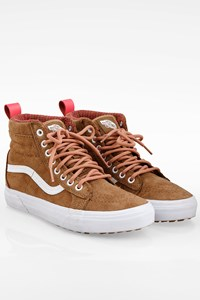 Vans Light Brown SK8-Hi Suede Sneakers / Size: 38 - Fit: True to size