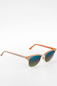 Ray Ban RB 3016 Clubmaster Grey-Orange Acetate Sunglasses