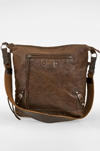 Balenciaga Brown Leather Classic Day Crossbody Bag