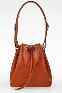 Louis Vuitton Tan Kenyan Fawn Epi Leather Petit Noe Shoulder Bag