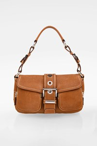 Prada Tan Leather Shoulder Bag