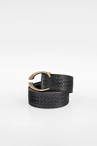 Just Cavalli Black Men's Braided Leather Belt