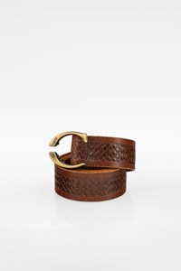 Just Cavalli Brown Men's Braided Leather Belt