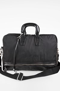 D&G Black Nylon and Leather Travel Bag
