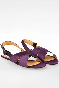 Lanvin Purple Satin Strap Sandals / Size: 40 - Fit: 39.5