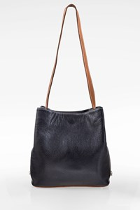 L'Ofre Blue Leather Shoulder Bag