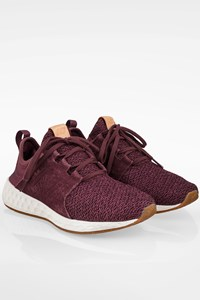 New Balance Purple WCRUZOM Canvas and Suede Sneakers / Size: 39 - Fit: 38.5