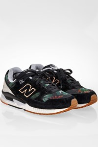 New Balance Black N530MOW Canvas and Suede Sneakers / Size: 38 - Fit: True to size