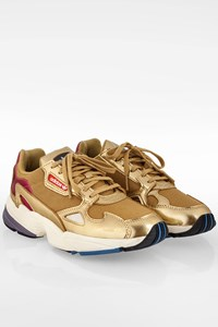 Adidas Gold Leather Falcon W Sneakers / Size: 38 2/3 - Fit: 38