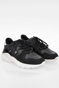 Hogan Black Active One Leather and Suede Sneakers / Size: 37 - Fit: 38