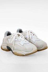 Ash White Addict Bis Leather and Canvas Sneakers / Size: 38 - Fit: 38.5
