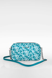 MICHAEL Michael Kors Bright Green- White Floral Jet Set Travel Crossbody Mini Bag