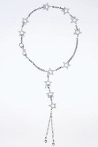 Dior Silver Chain Belt With Stars