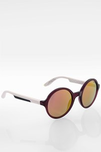 Carrera Burgundy-White 5008/S 0THUW Acetate Oval Sunglasses