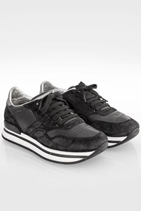 Hogan Black Allacciato Suede Sneakers / Size: 36 - Fit: True to size