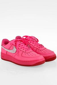 Nike Hot Pink Air Force 1 Leather and Swarovski Crystal Embellished Sneakers / Size: 38.5 - Fit: 38