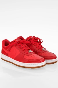 Nike Air Force 1 Red Leather Sneakers / Size: 38.5 - Fit: 38