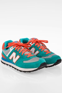 New Balance WL574ER Multi-Texture Tricolor Sneakers / Size: 38 - Fit: True to size