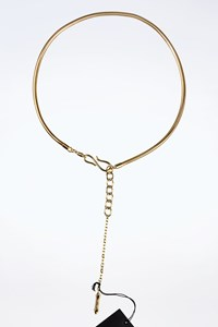 Dsquared2 Gold Chain Belt with a Decorative Pendant